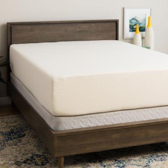 Select Luxury Medium Firm 14 Inch Full Size Memory Foam Mattress And Foundation Set