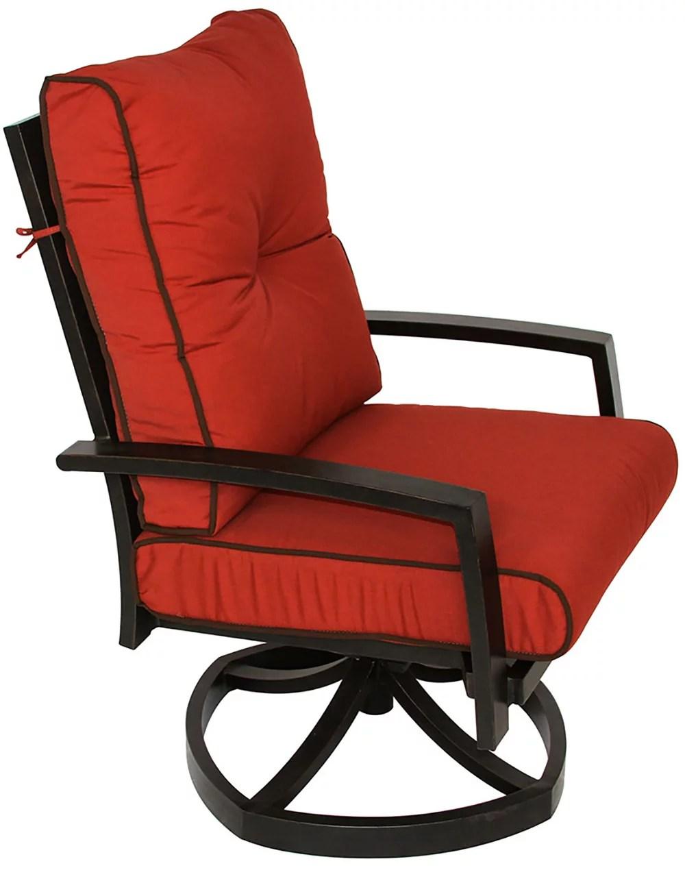 quincy cast aluminum outdoor patio swivel rocker chair