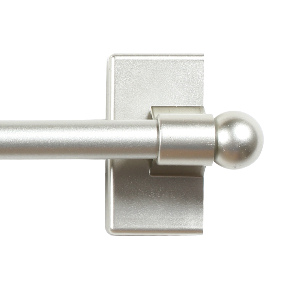 adjustable magnetic curtain rods with petite ball ends for small windows 1 2 diameter 9 16 inch length pewter finish 4 packs