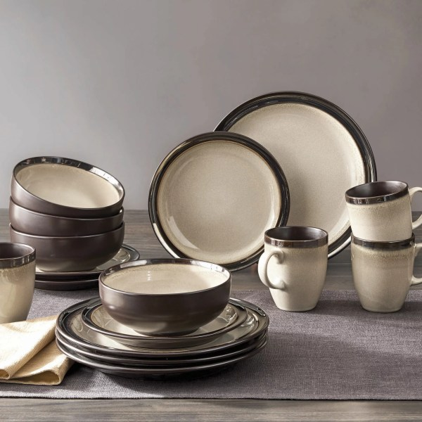 Homes & Gardens 16-piece Sierra Dinnerware Set Beige