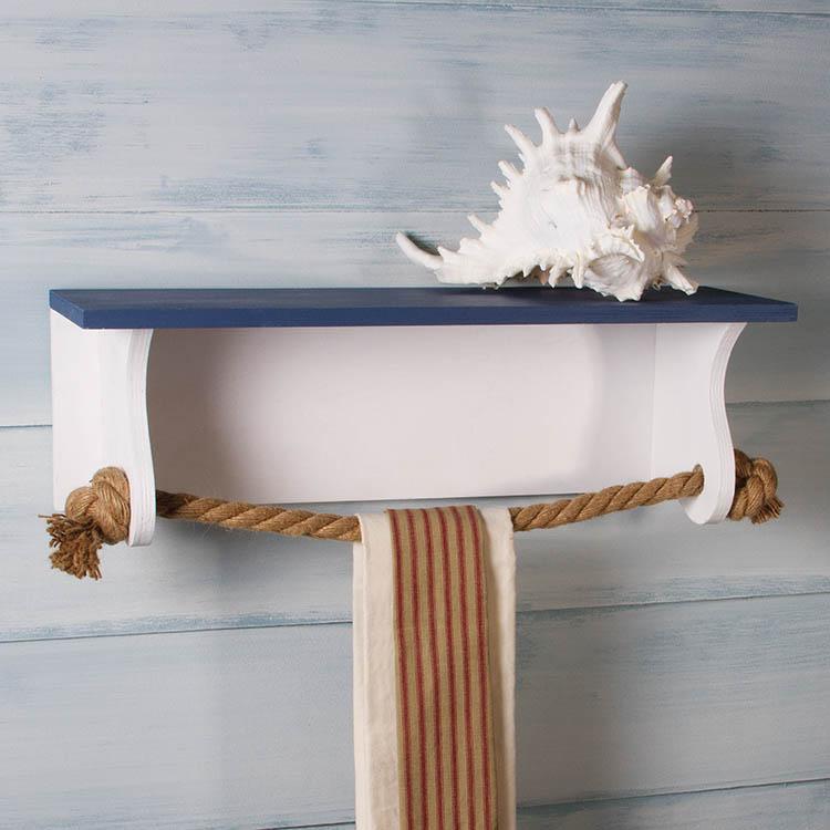 nautical towel rack shelf