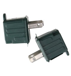 set of 2 stanley green 3 prong to 2 prong outlet adapters 1 75  [ 2000 x 2000 Pixel ]
