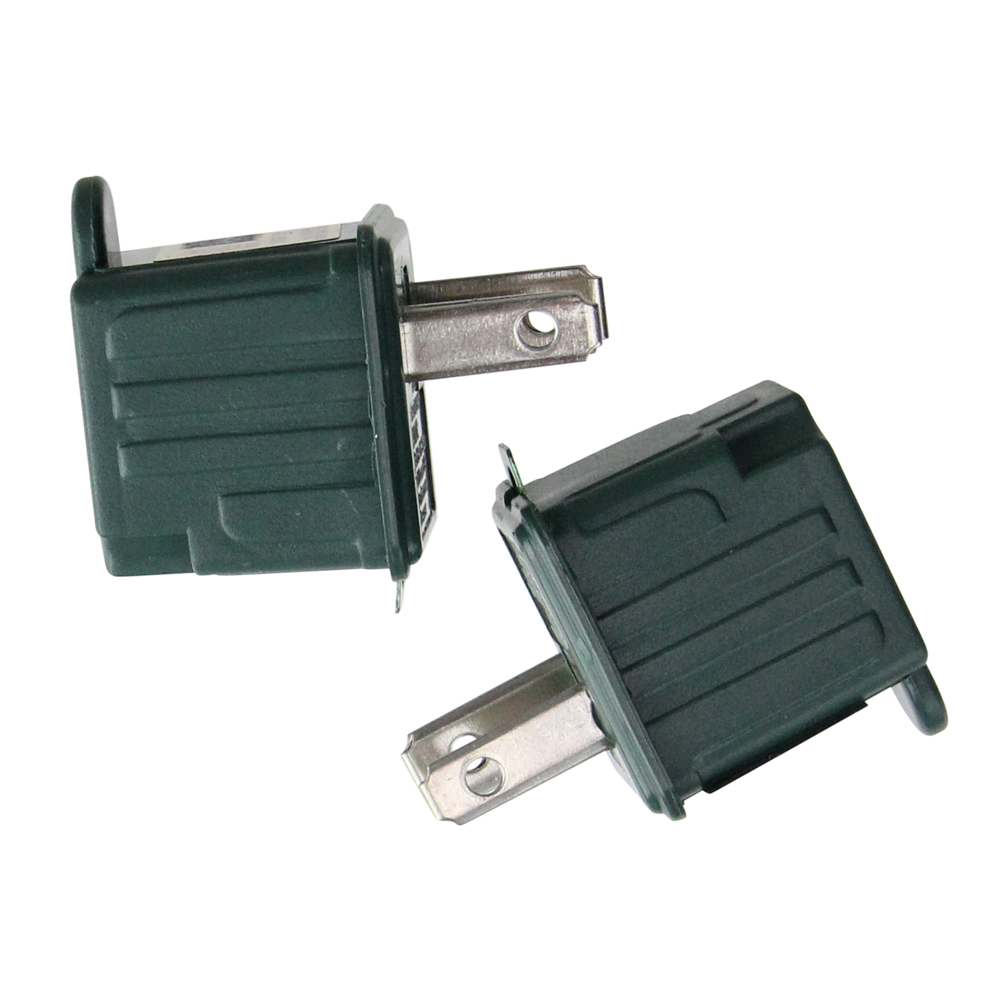 hight resolution of set of 2 stanley green 3 prong to 2 prong outlet adapters 1 75