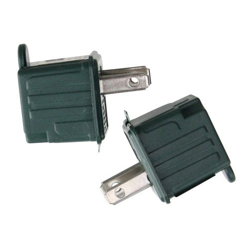 small resolution of set of 2 stanley green 3 prong to 2 prong outlet adapters 1 75
