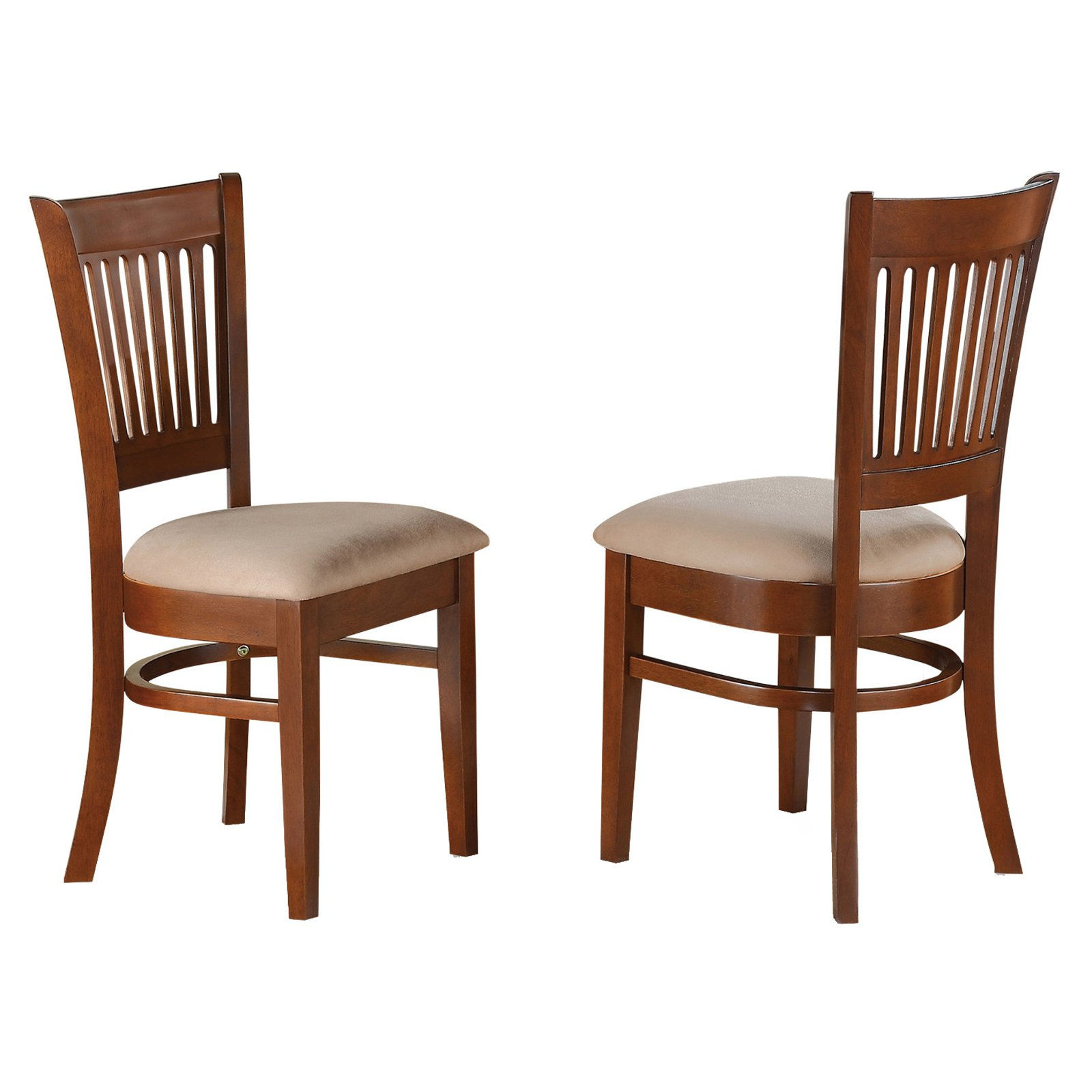 East West Furniture Vancouver Dining Chair With Microfiber