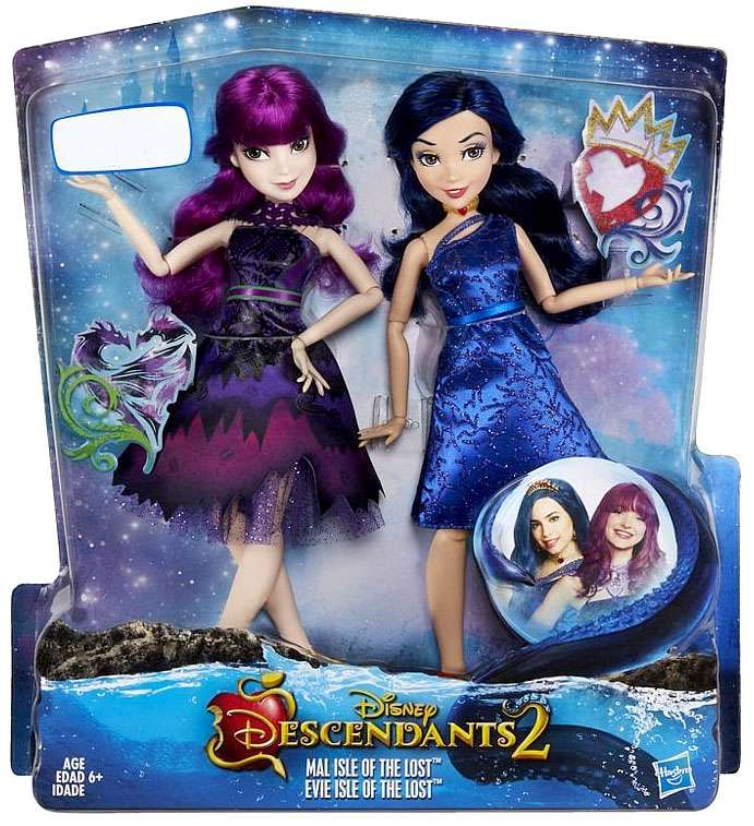 Disney Descendants Descendants 2 Mal Evie Doll 2 Pack