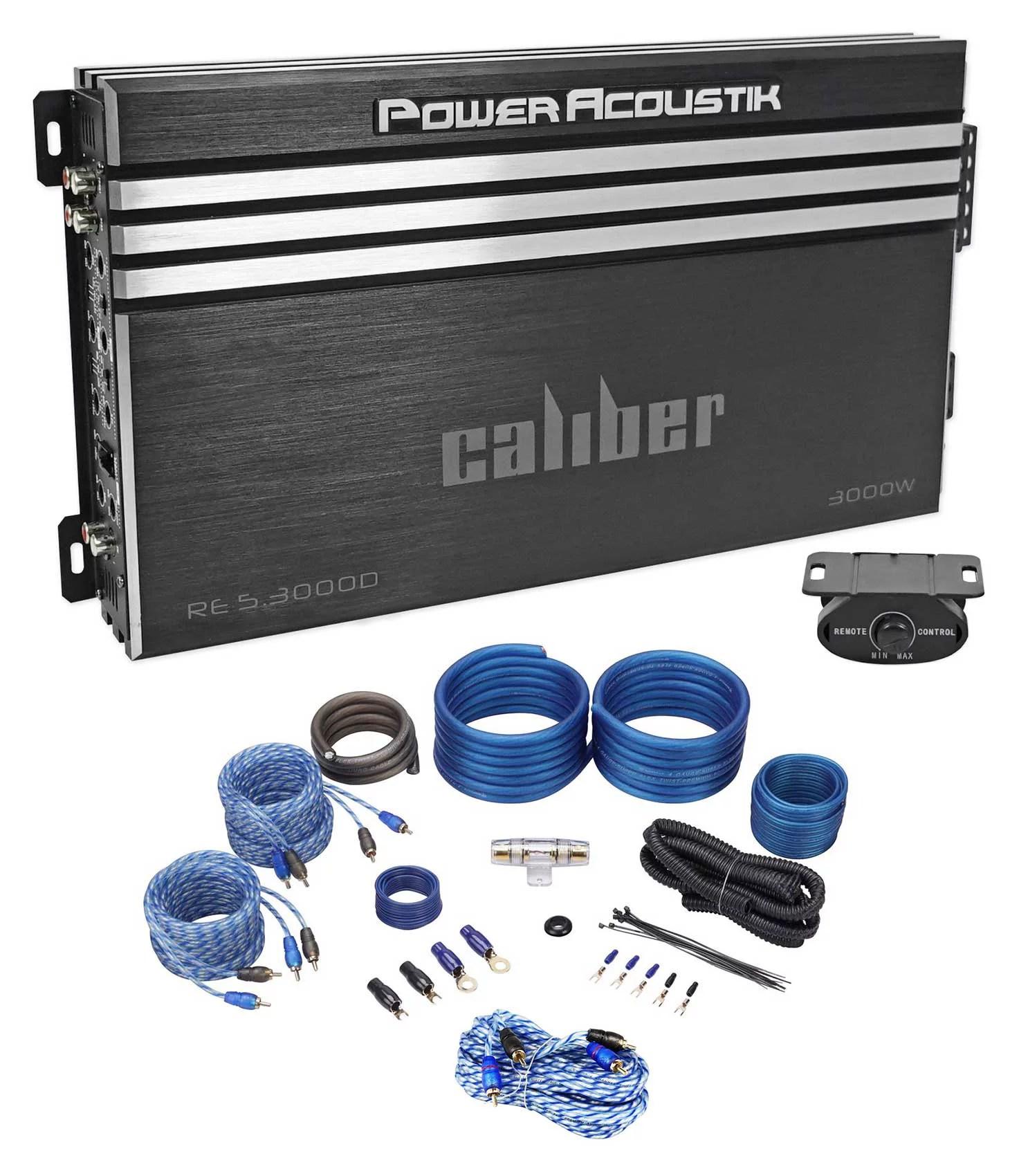 small resolution of power acoustik re5 3000d 3000w 5 channel car audio amplifier class a power acoustik akit8 amplifier wiring kit 8gauge walmartcom
