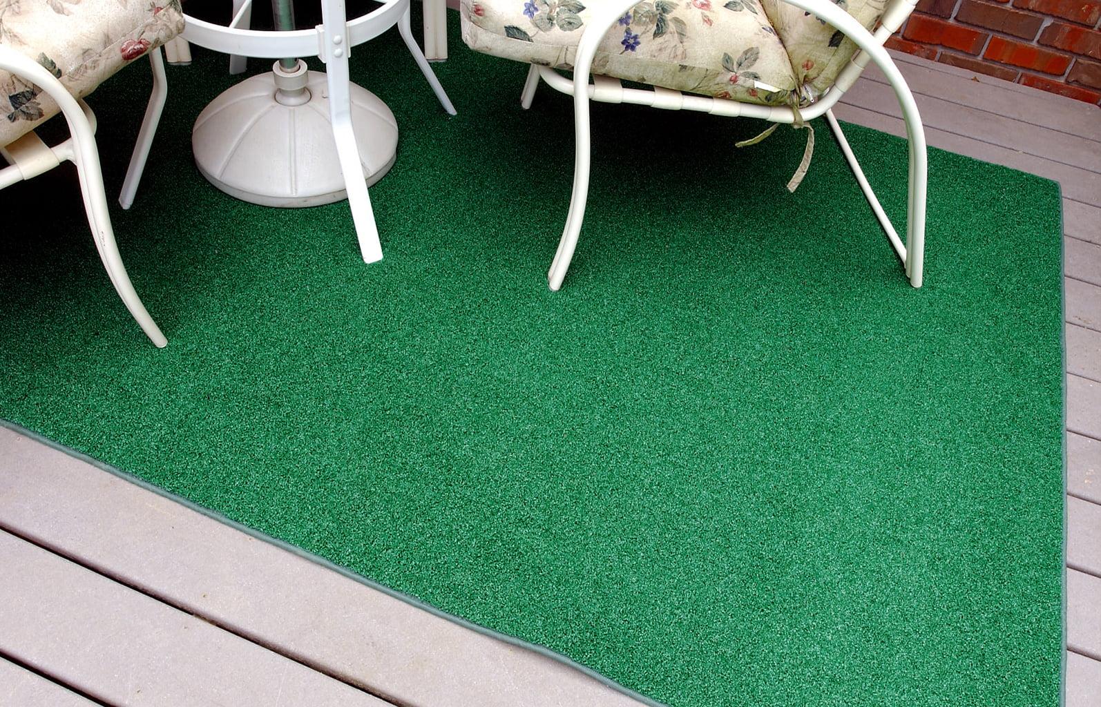 garland artificial grass green indoor outdoor area rug 4 x 6