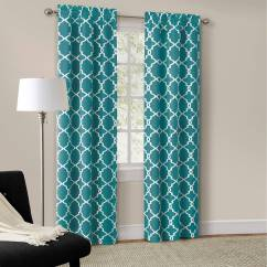 Teal Curtains For Living Room Two Tone Paint Ideas Mainstays Calix Fashion Window Curtain Set Of 2 Walmart Com