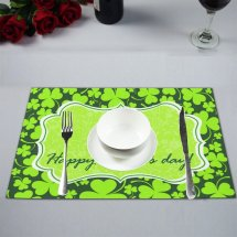 Mypop Happy St. Patrick' Day Kitchen Table Mat Placemats
