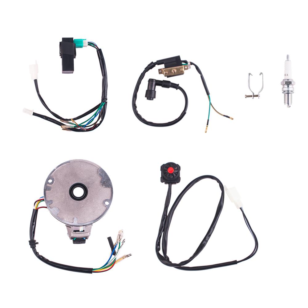 50 125cc kick start dirt pit bike wire harness wiring loom cdi coil [ 1000 x 1000 Pixel ]