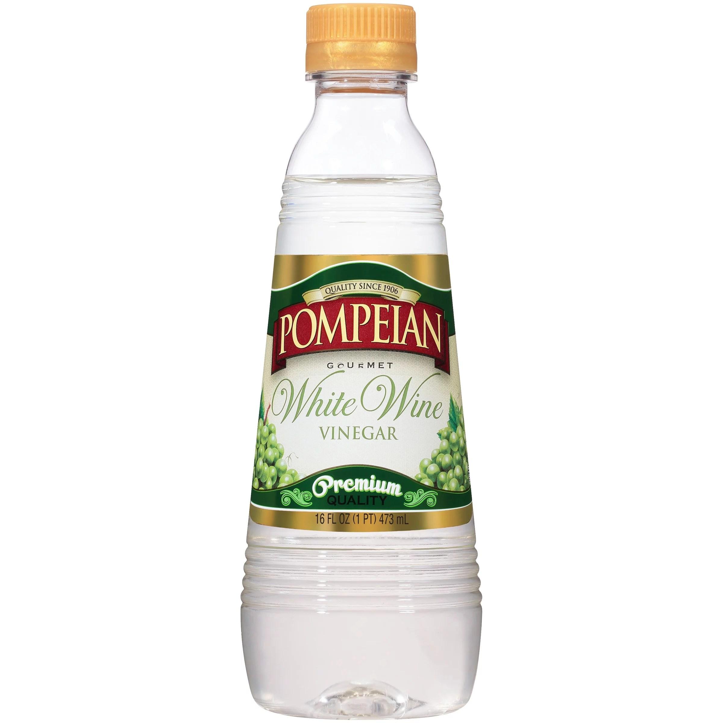 Pompeian White Wine Vinegar 16 fl oz Walmartcom