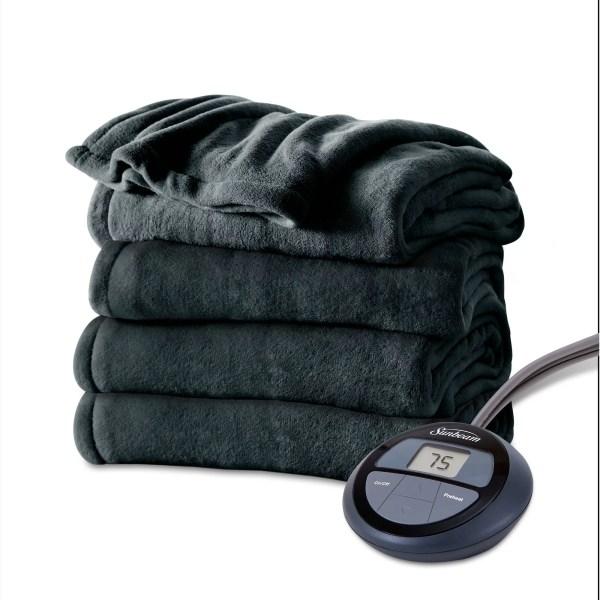 Sunbeam Electric Heated Microplush Blanket