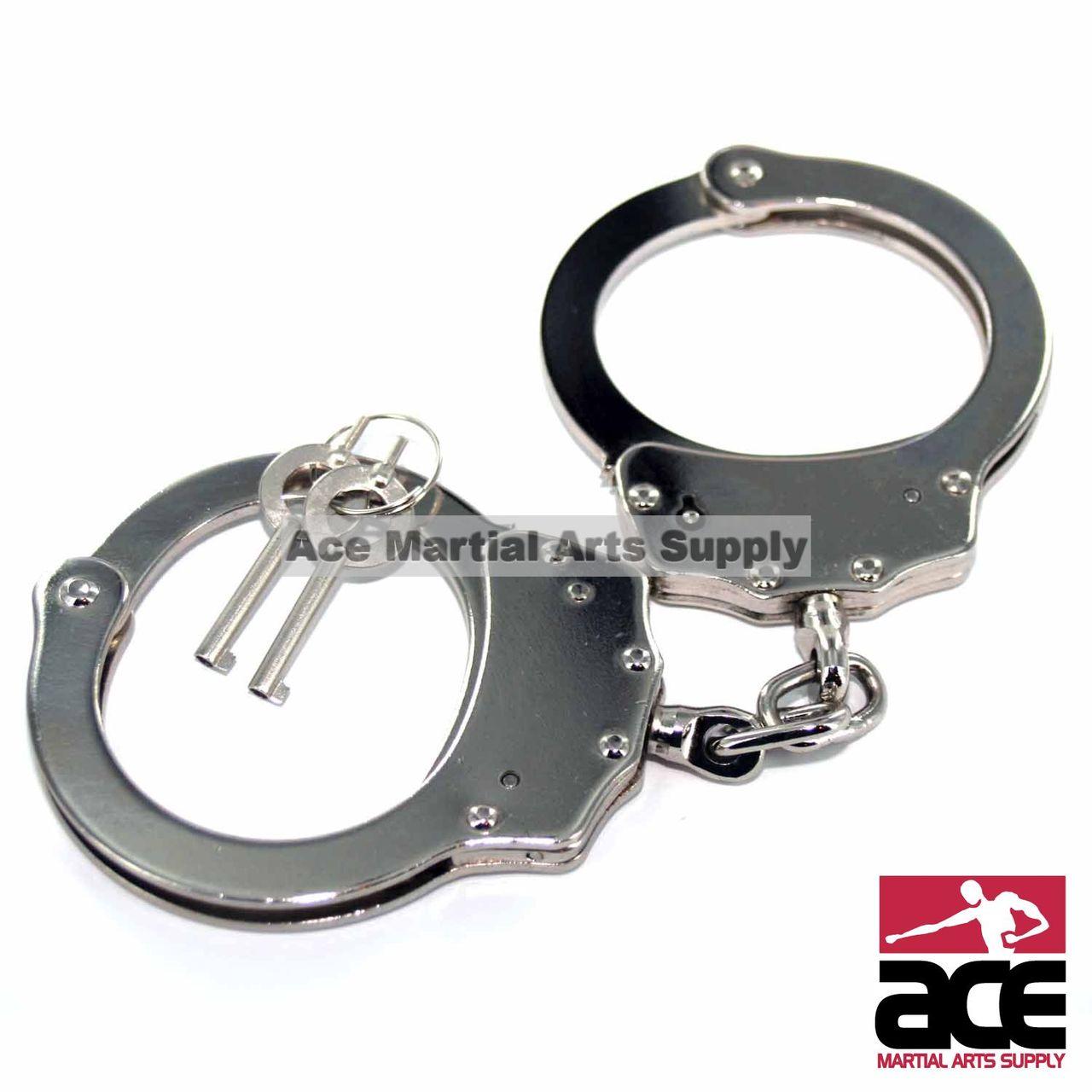 professional handcuffs silver steel