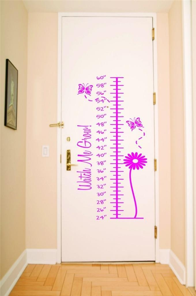 Custom decals spring time watch me grow measurement growth chart  also rh walmart