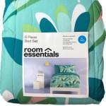 Room Essentials Teal Blue Foral Twin Xl Bed In Bag Comforter Dorm Set 5 Pc Walmart Com Walmart Com