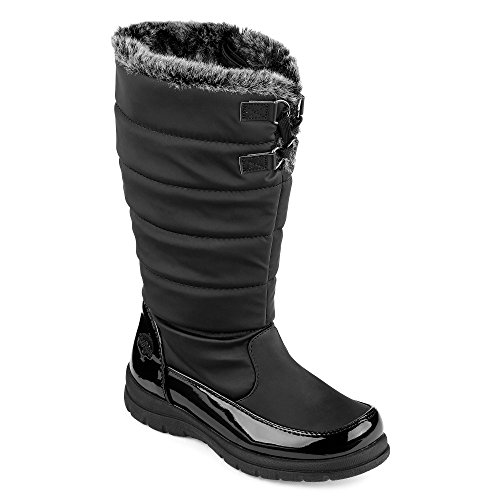 Totes Girls Big Kid Hollie Waterproof Rubber Black Snow