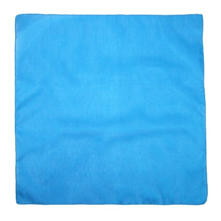 CTM® Individually Folded and Packaged Solid Color Cotton Bandana, Blue