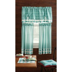 Kitchen Valance Patterns Chairs Ikea Pioneer Woman Curtain And 3pc Set ...