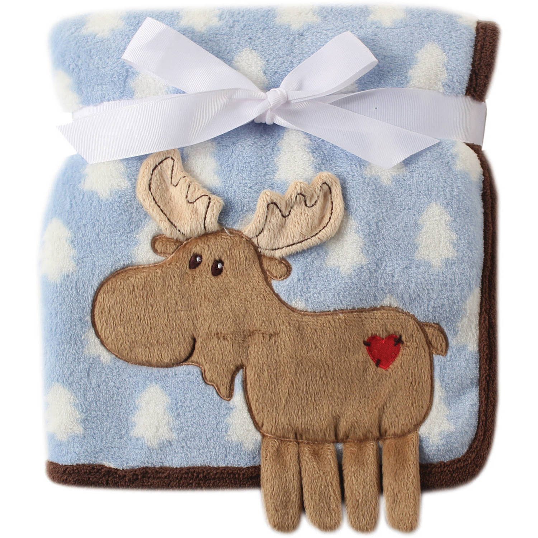 Hudson Baby Boy And Girl Coral Fleece 3d Animal Blanket