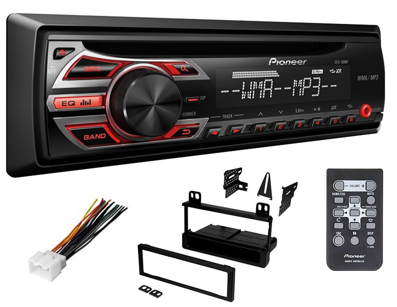 hight resolution of pioneer ford cd car stereo radio kit dash installation mounting with wiring harness walmart com
