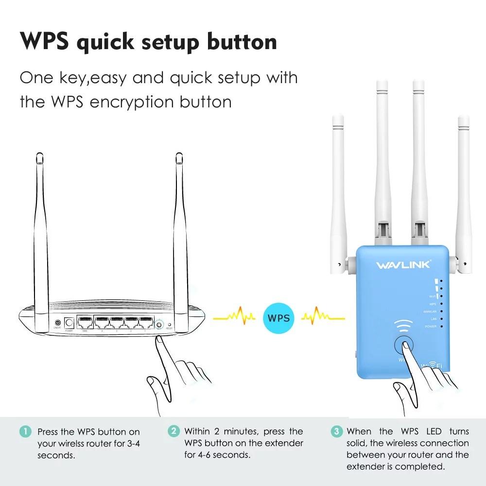 wireless extender diagram 1986 ez go gas golf cart wiring wavlink ac1200 dual band wi fi range mini router repeater signal booster amplifier with 4 high gain external antennas walmart com