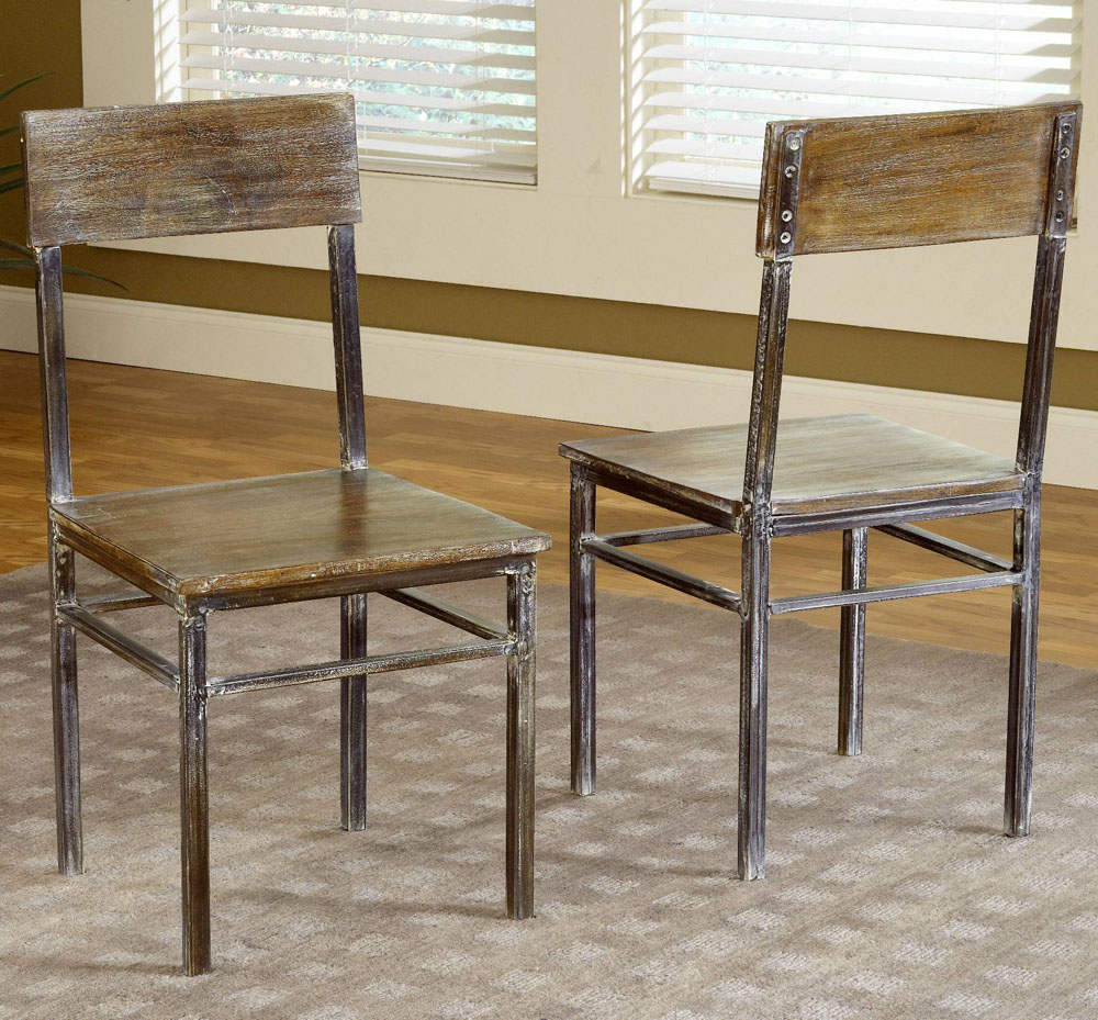 farmhouse dining chairs comfortable sitting modus side in antique walnut set of 2 walmart com