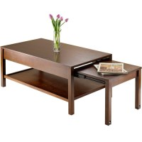 Brandon Expandable Coffee Table, Antique Walnut - Walmart.com