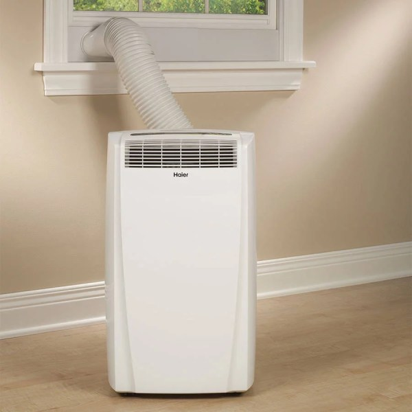 Haier Hwf05xcl-l 5 000-btu Compact Mini Room Window Air Conditioner With Mechanical Controls