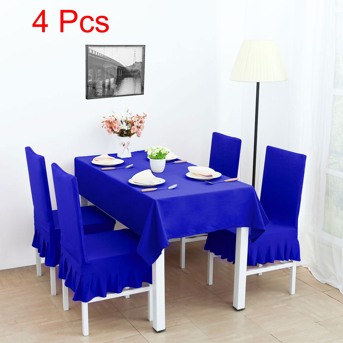 royal blue chair covers meditation spandex stretch washable dining cover protector slipcover walmart com