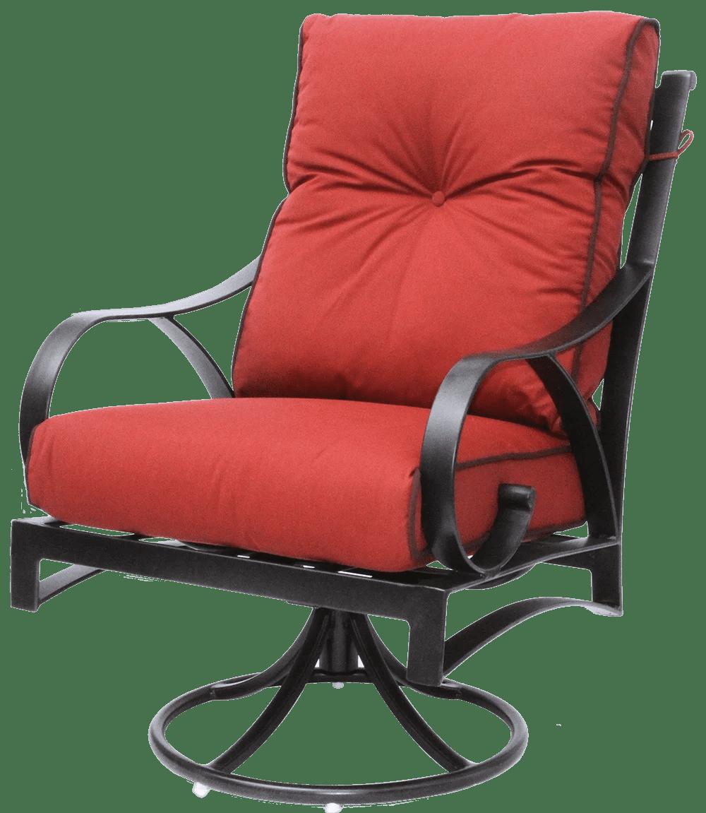outdoor swivel rocker chair mesh office support newport cast aluminum patio walmart com