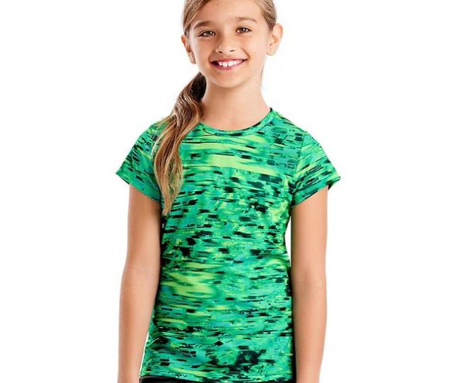 Sports Speed Dash Performance Tee Shirt For Girls Speed Dash Cool Me Blue