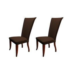 Basket Weave Dining Chairs Toddler Sofa Chair And Ottoman Set Charlton Home Stretch Polyester Slipcover Of 2