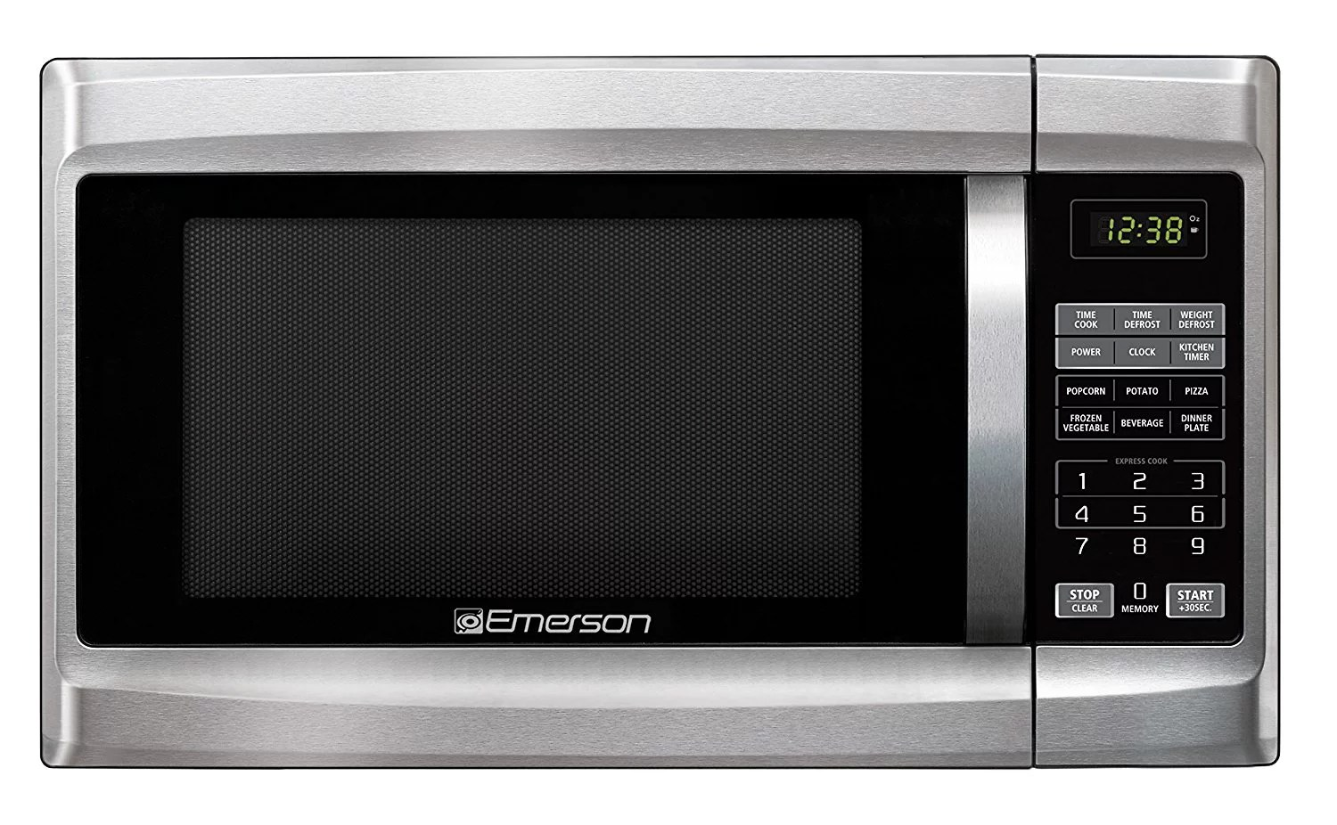 emerson mw1338sb 1 3 cu ft 1000 watt touch control microwave oven stainless steel