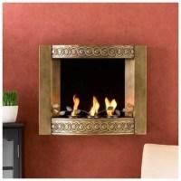Wall-Mount, Gel Fuel Fireplace, Antique Gold - Walmart.com