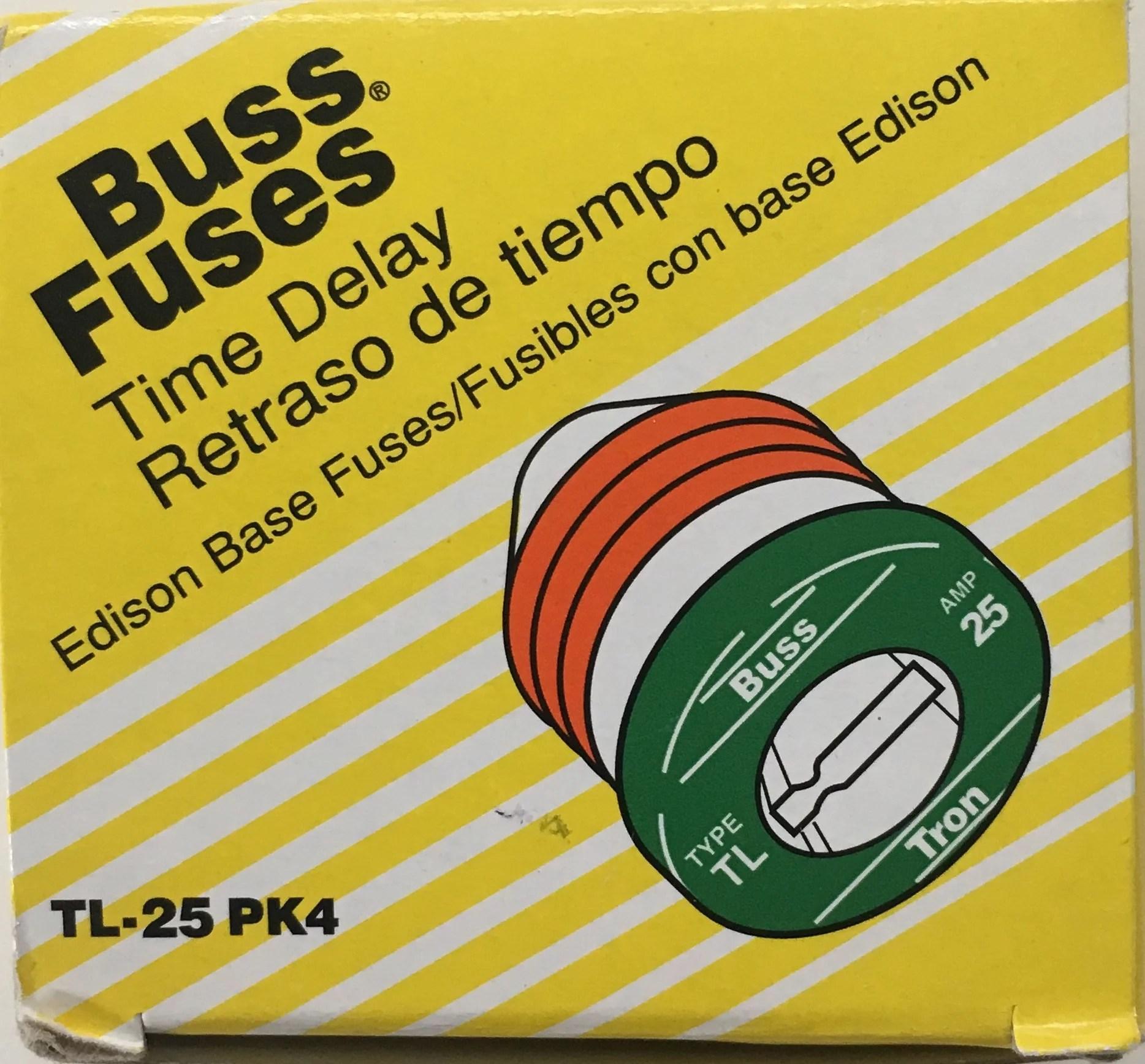 hight resolution of bussman tl 25pk4 box of 4 25 amp edison base plug fuse walmart com25 amp fuse