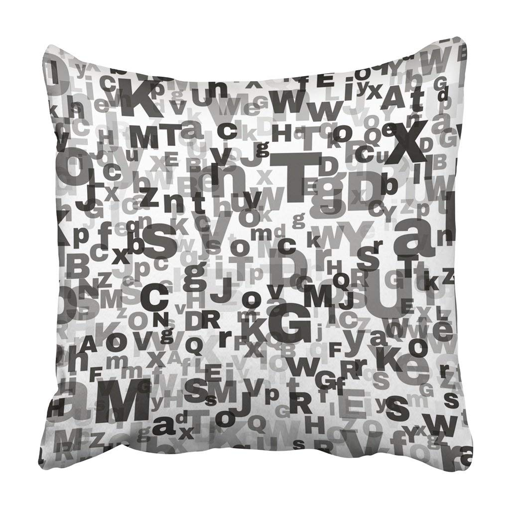 ARTJIA Abstract Letters Repeatable Alphabet Black And White For English Language Day Swatch