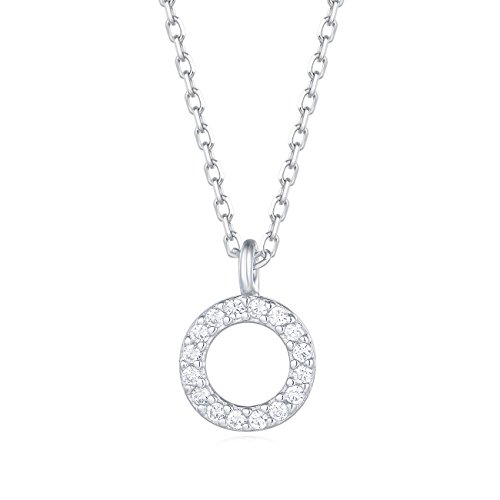 Gemhub Custom Tilted Diamond Block Letter Initial Necklace