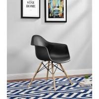DHP Mid Century Modern Molded Arm Chair with Wood Leg ...