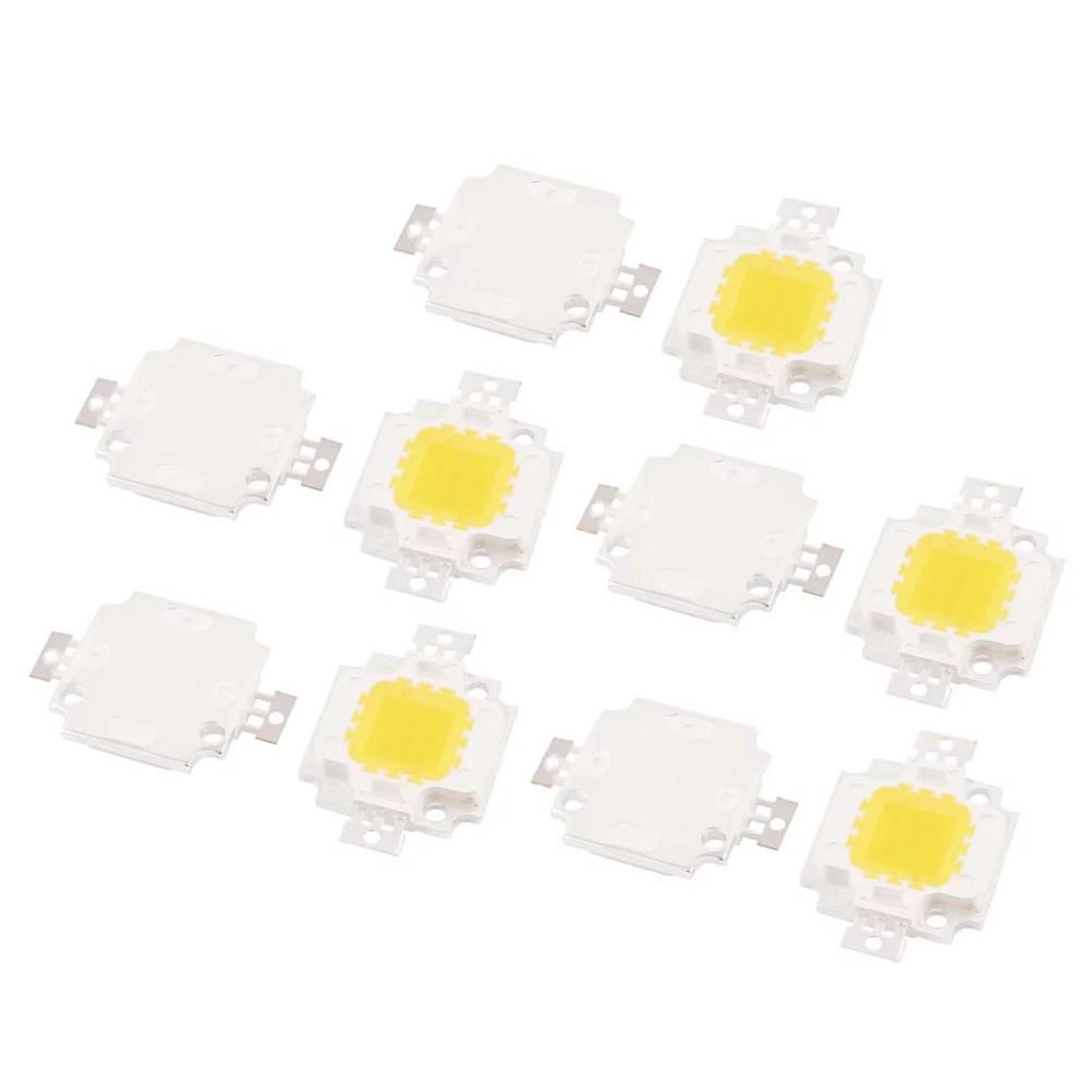 medium resolution of 10pcs 30 34v 10w led chip bulb pure white super bright high power for floodlight