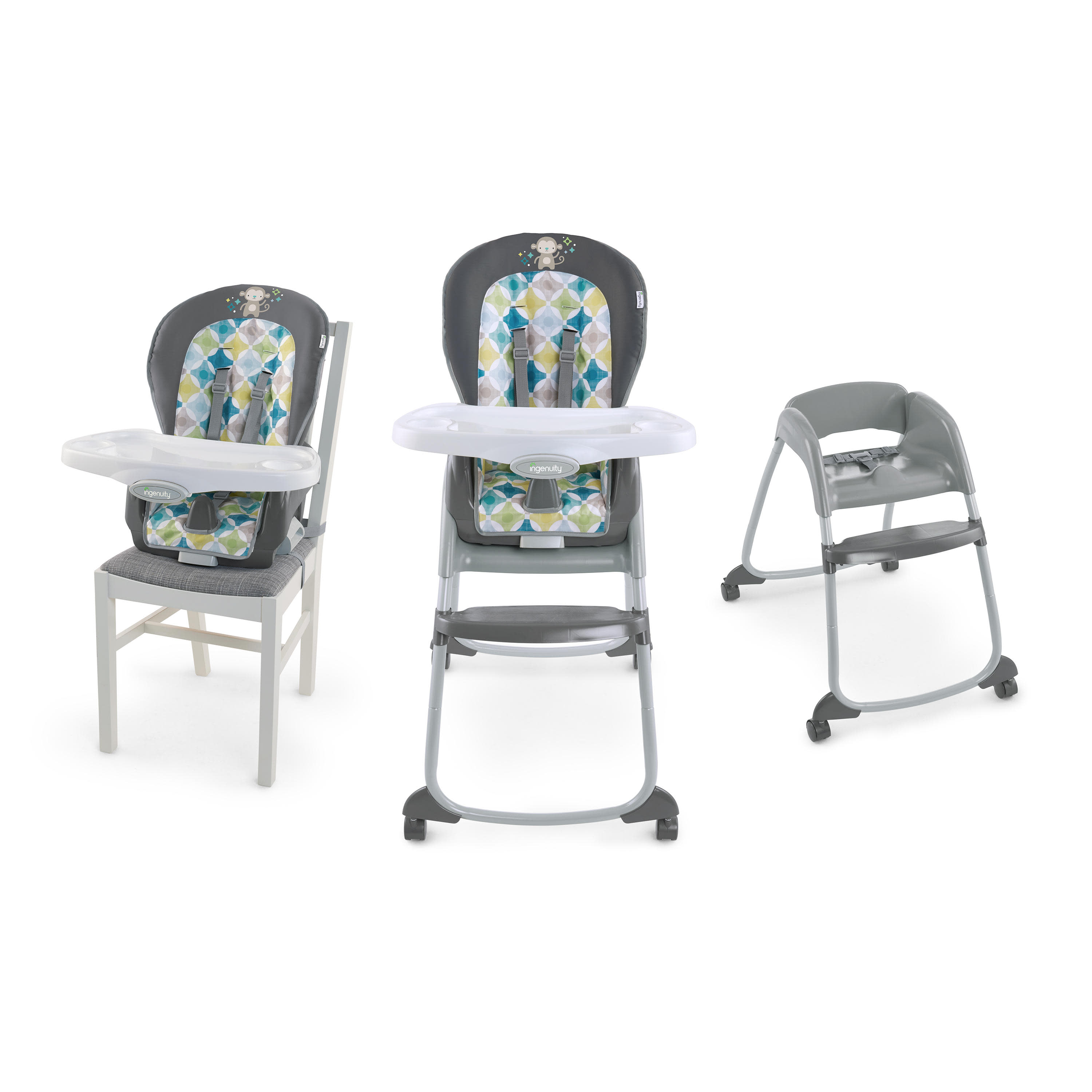 ingenuity high chair 3 in 1 cover light gray covers trio moreland walmart com