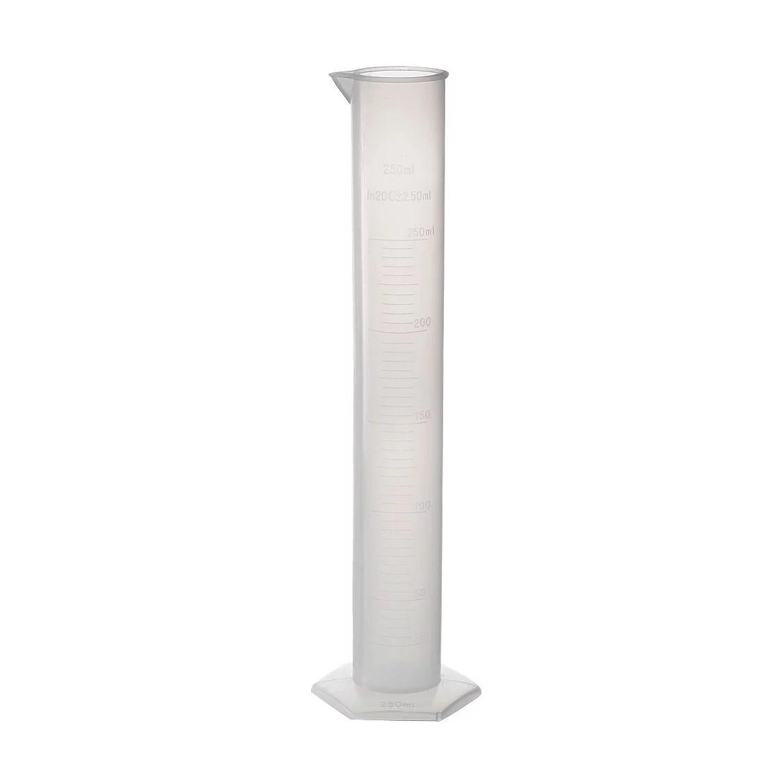 250ml Graduated Cylinder Laboratory Measurement Clear