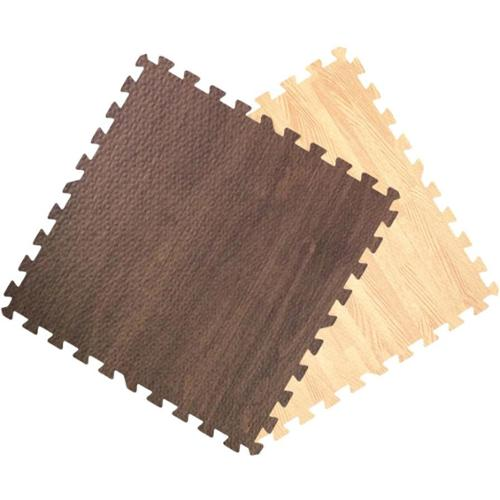 Get Rung Wood Grain Interlocking Foam Puzzle Tile Floor