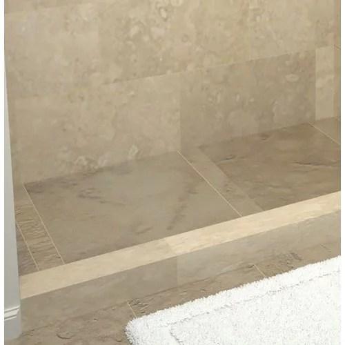 tile redi rt3672l pvc 72 x 36 corner shower pan