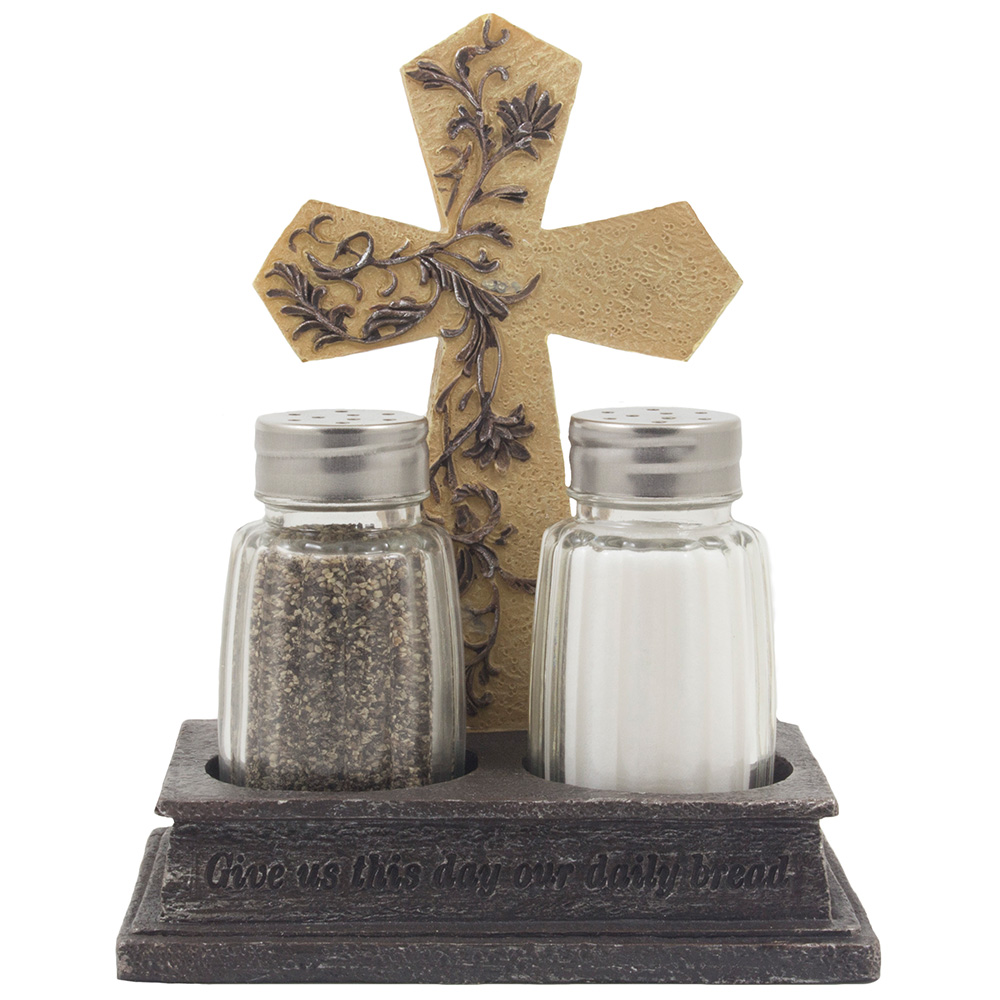 Give Us This Day Our Daily Bread Salt And Pepper Shaker Set With