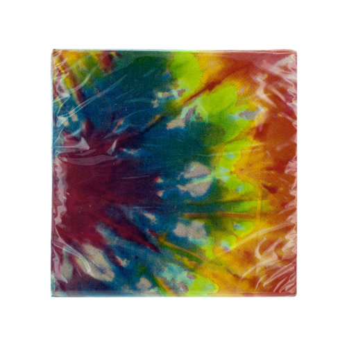 Bulk Buys PA638 20 Pack 9 4/5 X 9 3/4 In. Tie Dye Beverage Napkins Case of 144