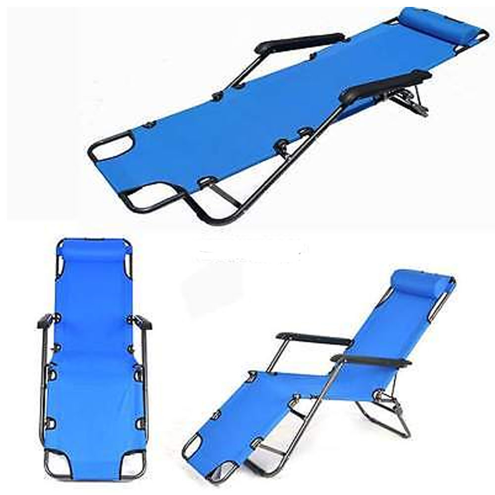 folding chaise lounge chair outdoor deep seating patio cushions zimtown pool beach lawn recliner reclining zero gravity walmart com