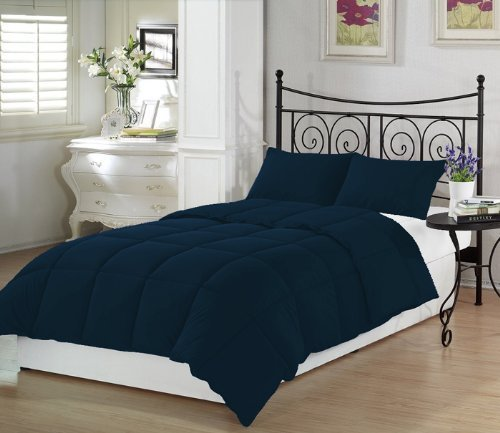 navy blue twin extra long comforter set by ivy union