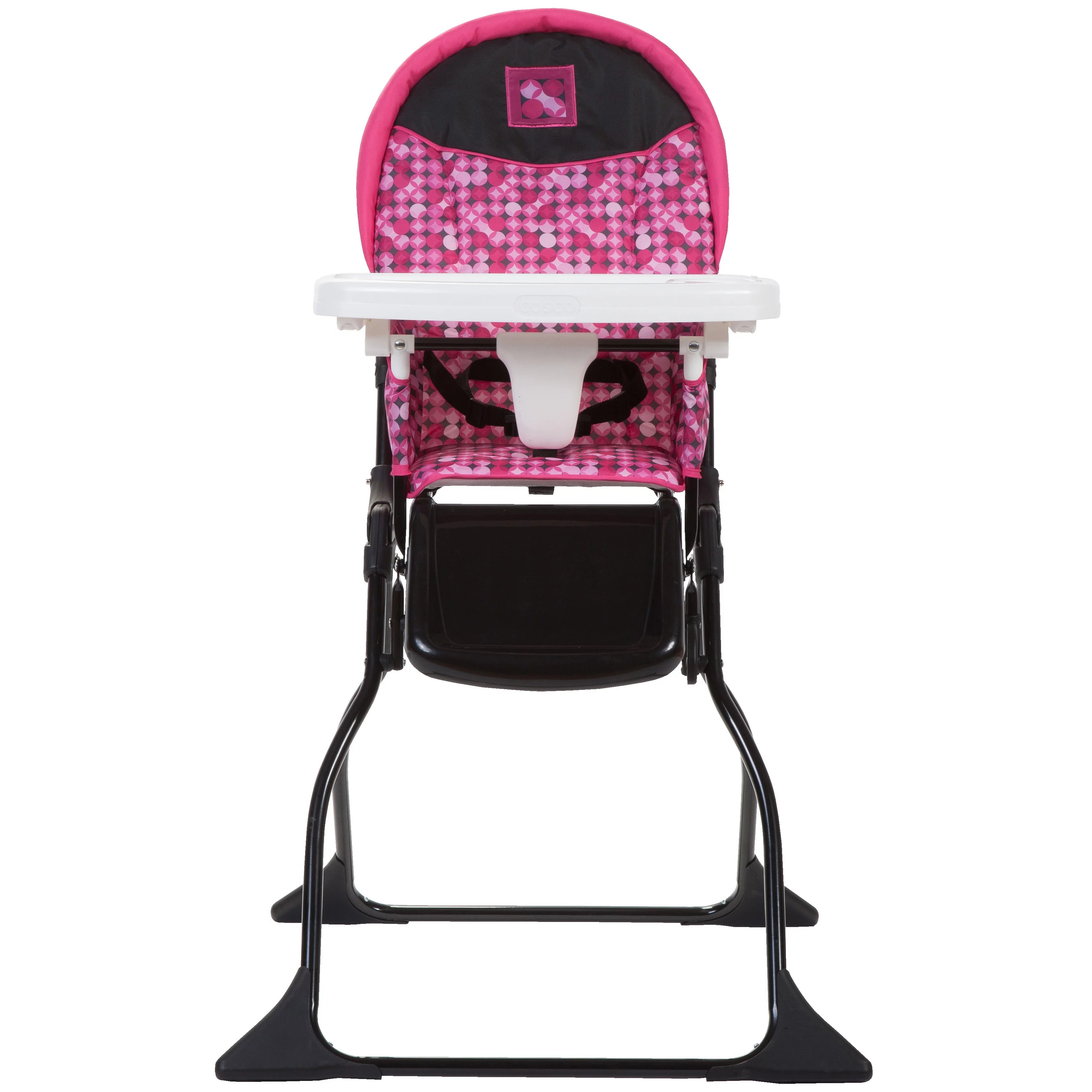fold out chairs walmart nail salon uk cosco disco ball berry high chair and playard value set