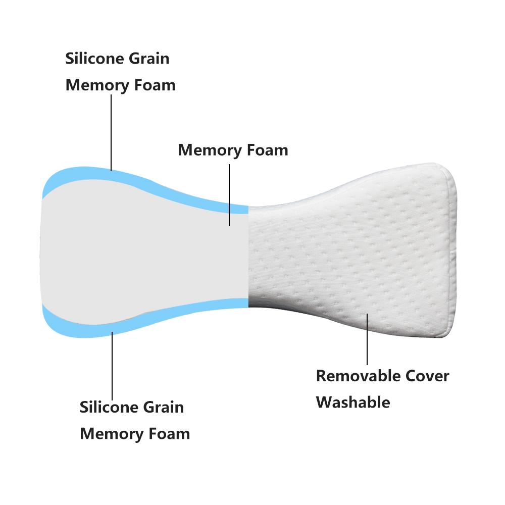 pharmedoc knee wedge pillow orthopedic leg wedge pillow for side sleepers with memory foam